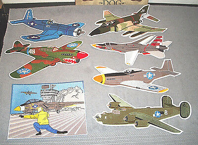 Military Aircraft Aviation Airplane Collectible Patches - NEW - MIXED LOT OF 7
