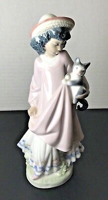 "Lladro #5549 ""My New Pet"" Black Legacy Retired Collection Daisa 1988 - Nice!"