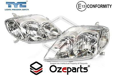 Pair LH+RH Head Light Lamp For Toyota Corolla  ZZE122 Sedan Wagon 2001~2007