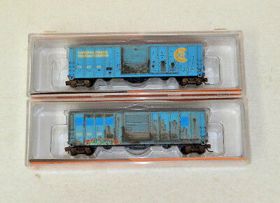 2 x Fox Valley N Scale Corinth & Counce 52' Boxcars