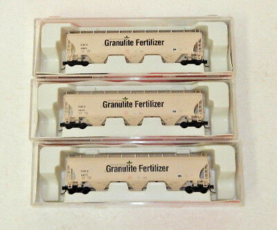 3 x InterMountain N Scale GATX Corp 3 Bay Covered Hoppers (Granulite)
