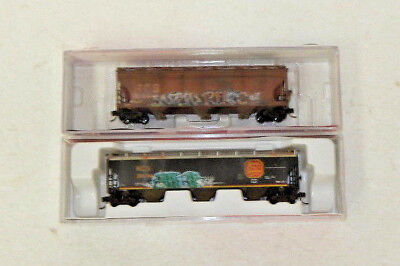 2 x InterMountain N Scale Kansas City Southern 3 Bay Covered Hoppers