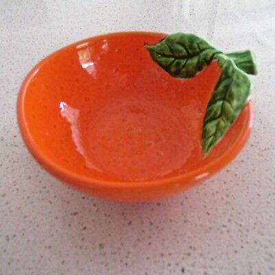 Fab Kitsch Vintage Ceramic Orange Bowl  Made in Japan Mid Century