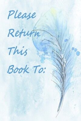 Beautiful Bookplates - Shades of Blue Feathers