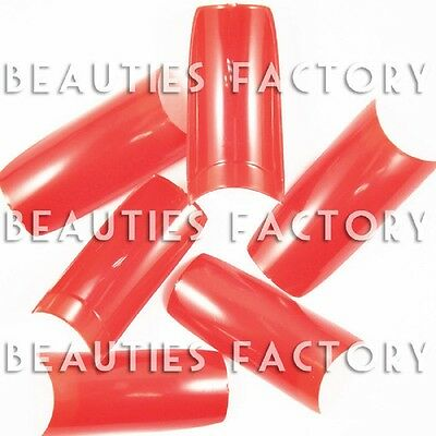 BF 500 piece rouge chaud False acrylique Gel UV art ongles embouts Outils 4