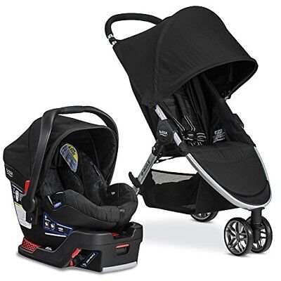 Britax 2017 B Agile & B Safe 35 Travel System, Black, Red, Steel  Britax USA