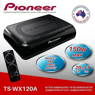 NEW Pioneer TS-WX120A Space Saving Active Subwoofer Under Seat Compact Sub 150W