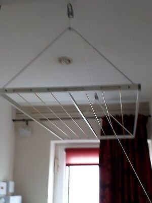 ceiling mounted pully maid clothes airer dryer from ikea. Black Bedroom Furniture Sets. Home Design Ideas