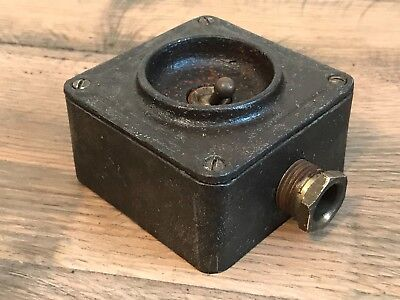 Steel Crabtree Industrial Light Switch Salvaged From a Local Factory Salvage