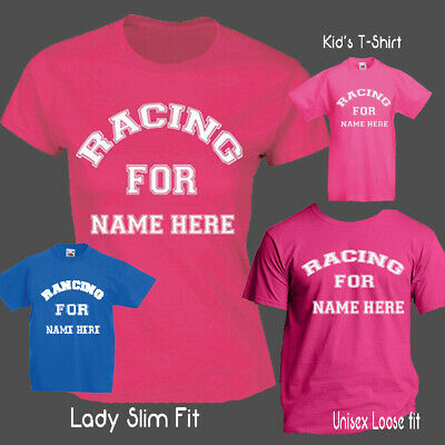 Racing For Race For Cancer Pretty Muddy 5K 10K Life Kid's Ladies Fit,Unisex Pink