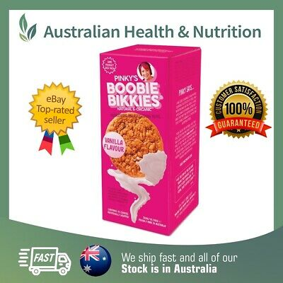 Pinky's Organic Boobie Bikkies Vanilla - All Sizes - Increase Breast Milk Supply