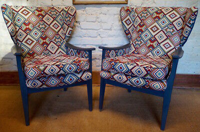 Pair of Stunning Vintage Parker Knoll Wingback Armchairs