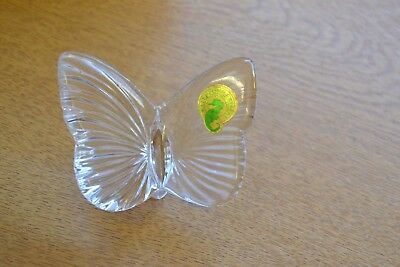 Waterford Crystal Butterfly Clear Ornament Figurine Made in Ireland USED #CL
