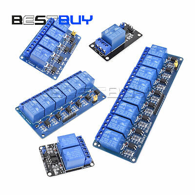 5V 1/2/4/6/8 Channel Relay Board Module Optocoupler LED  AVR PIC ARM BBC