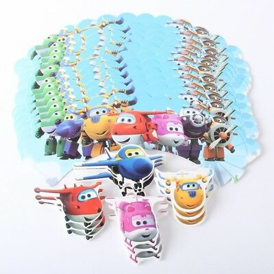 12 Super wings Cupcake Wrappers & 12 Toppers kids Birthday party decoration