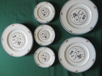 "Vintage Set of 12 Dinner Plates & 12 Butter Plates Royal Doulton ""Old Colony"""
