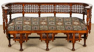 Old Syrian Wood and Inlay Settee Lot 586