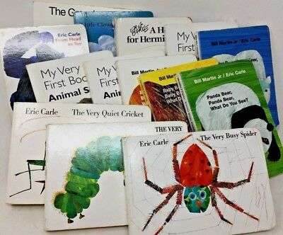 MIXED LOT 6 Eric Carle baby toddler children's board books  SHIPS FREE