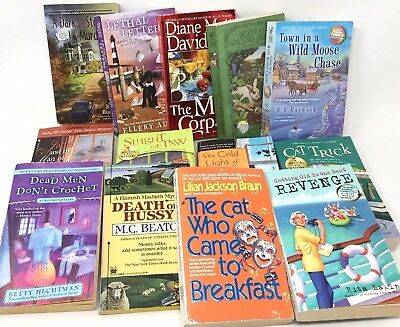 MIXED LOT 10 cozy mysteries paperback books sleuths  SHIPS FREE