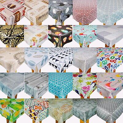 Wipe Clean Tablecloth Cover Vinyl PVC Best New Wipeable Designs 140 x 200cm