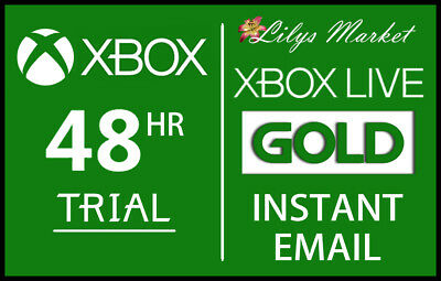 Xbox Live 48Hrs 2 Days Gold Trial Code 48 Hour 48 Hours - Instant Dispatch