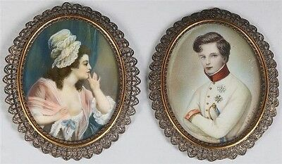 19th/ 20th a couple of miniatures: Duc de Reichstadt (Napoleon II) and lady