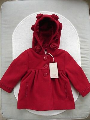 Baby Girls Red Coat  Age 12-18 months- BNWT Monsoon