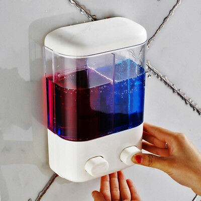 New 500/1000ML Soap Shampoo Sanitizer Dispenser Lotion Pump Action Wall Mounted