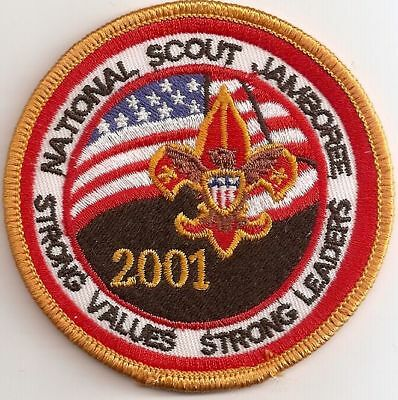 "2001 National Scout Jamboree  3"" Patch - ""Strong Values"" ""Strong Leaders"" - MINT"