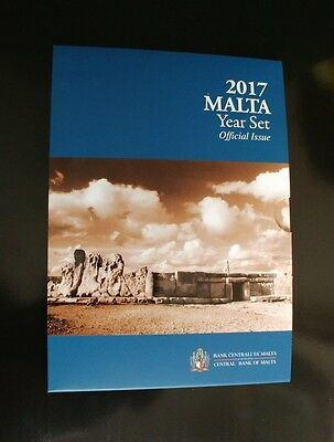"""Dated Coin Set Malta 2017(without 2€  commemorative""""Temples of Hagar Qim"""")3,88 €"""