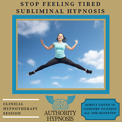 Stop Feeling Tired Hypnosis, Boost Energy Levels, Perform At Your Peak