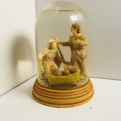 Plastic Jesus Mary And Joseph Roman Snow Globe Nativity Scene Mind In Italy