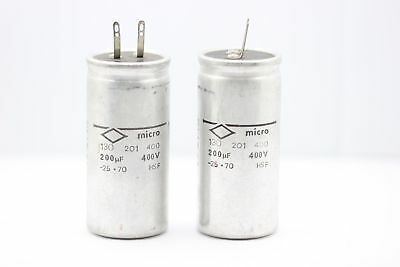 ELECTROLYTIC CAPACITOR MICRO 200uF 400V NOS(New Old Stock) 1PC. CA15U2F230715