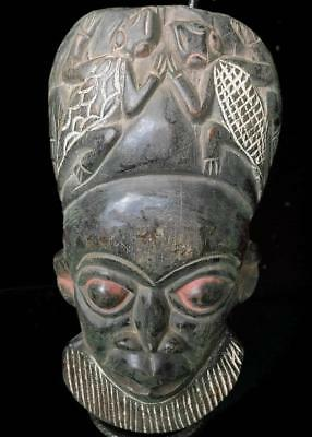 Old Tribal Bamum Mask        -- Cameroon