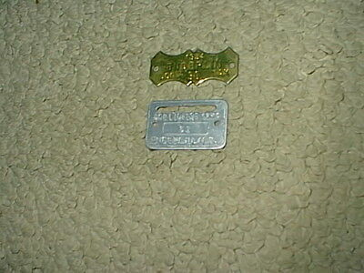 2 Vintage 1959 & 1954 Brass Enderlin ND Dog Tax Tag