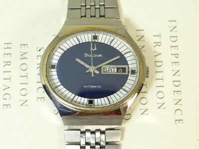 Vintage Bulova Automatic Day And Date Men's Watch Swiss Made.