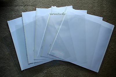 Creative Memories True 12x12 White Scrapbook Pages & Protectors - set of 5