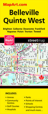 BELLEVILLE QUINTE WEST MAP - 1137  by MapArt Ontario