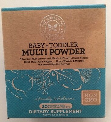The Honest Company Baby + Toddler Multi Powder 30 packets Non GMO Sealed 5/18