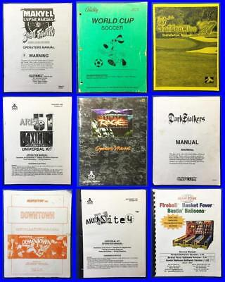 lot of (9) Different Original Arcade Game Owner's Manuals