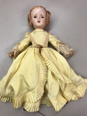 "Vintage Madame Alexander Godey Lady Doll 14"" Tagged dress. Hard plastic"