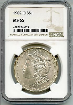 1902-O Morgan Silver Dollar - NGC MS 65 Certified - New Orleans Mint - AQ423
