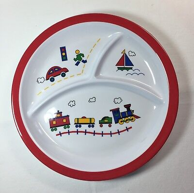 Baby Feeding Divided Plate. Melamine ware. New