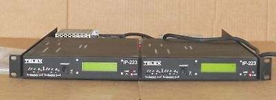 2  Telex Ip-223 Dual Ethernet Ip Remote Adapter Panel w/Power supply Ready