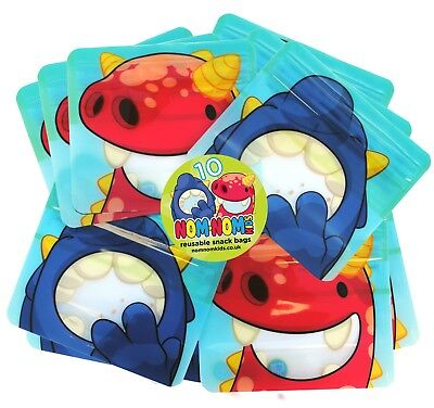 REUSABLE SNACK BAGS x 10 - Nom Nom Kids washable snack bags, snack pot, BPA free