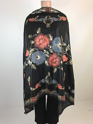 $9.99 Hot Deal Indian  Party Dupatta Cute Black with Block Print Women Scarf