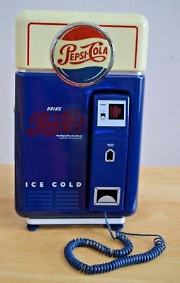 Vintage Pepsi Cola Vending MachineTelephone with  Ringer-Tested-Works