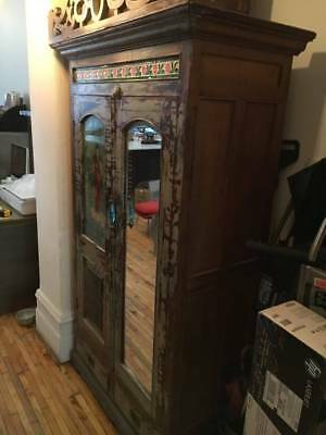 upcycle Asian Armoire Lacquer Cabinet Chest Cupboard Sideboard Antique