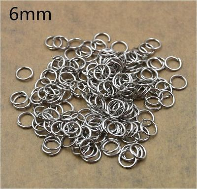 100PCS / Pack - 6mm Open Split JUMP RINGS Jewelry Findings DIY Craft Keyring
