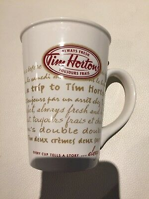 Tim Hortons Limited Edition #009 Coffee Mug Cup 2009 Every Cup Tells A Story